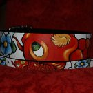 Tattoo Leather DOG collar KOI ASIAN WAVES X wide X-LRG