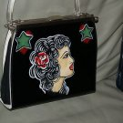 VintageTATTOO handbag purse sailor Gypsy PROFILE Pin up
