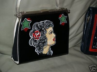 VintageTATTOO handbag purse sailor Gypsy PROFILE Pin up