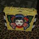 TATTOO handbag purse box Winged GIRL sailor Butterfly