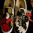 Custom TATTOO hand painted mens ANY size VANS Chicago bulls chi town basketball