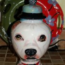 Custom ANY BREED Pet DOG urn cremation PIT BULL bull dog hand painted portrait