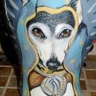 Custom memorial burial Pet DOG Cat cremation urn Lg greyhound sacred religious