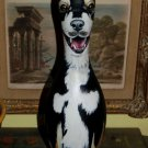Custom order PAINTED Bowling Pin dog portrait of ALL BREEDS of Dogs cats animals