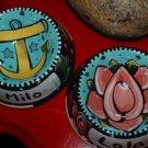 Tattoo ceramic custom Dog Bowl cat Bowls roses anchor small dog bowls chihuahua