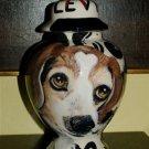 Custom Portrait MEMORIAL Pet URN DOG cremation ASH HandPainted ANY BREED BEAGLE