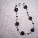Swarovski and Blackstone Sterling Silver bracelet by A Touch of Earth