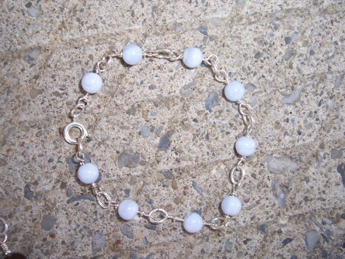 Blue Lace Agate bracelet by A Touch of Earth