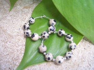 Dalmation Jasper Sterling Silver Hoop earrings by A Touch of Earth