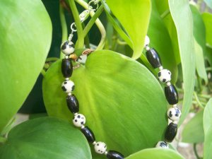 Dalmation Jasper and Coral bracelet by A Touch of Earth
