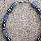 Healing Kyanite Hematite Sterling Silver bracelet by A Touch of Earth