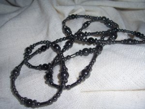 Hematite Endless loop necklace by A Touch of Earth