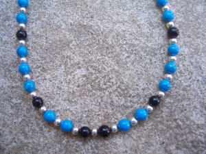 Howlite Blackstone Sterling Silver bracelet by A Touch of Earth
