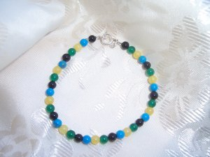 Color My World Sterling Silver Childrens bracelet by A Touch of Earth