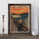The Scream Cross Stitch Chart by Edvard Munch (MINI)