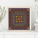 Harmony Cross Stitch Chart, Mandala Series