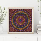 Time Cross Stitch Chart, Mandala Series