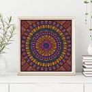 Time Cross Stitch KIT, Mandala Series
