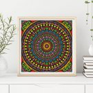 Hypnotic Cross Stitch KIT, Mandala Series
