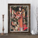 Walk in Flowers Cross Stitch Chart by August Macke