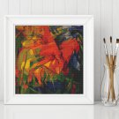 Animals in a Landscape Cross Stitch Chart by Franz Marc