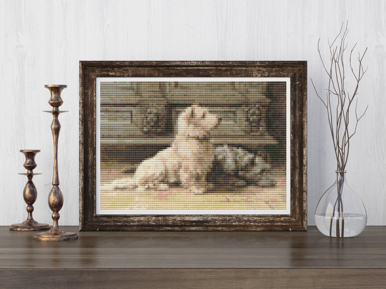 West Highland Terrier Cross Stitch KIT by Herbert Dicksee (MINI)