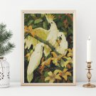 Sulphur Crested Cockatoos Cross Stitch Chart by Jessie Arms Botke