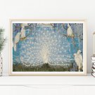 Peacock and Cockatoos Cross Stitch Chart by Jessie Arms Botke