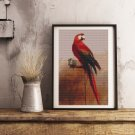 Study of a Parrot Cross Stitch Chart by George Cole