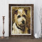 Portrait of a Terrier: Darkie Cross Stitch Chart by John Emms
