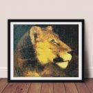 Head of Lioness Cross Stitch Chart by Theodore Gericault