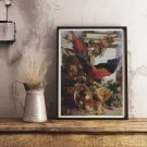 Still Life with Parrot Cross Stitch Kit by Auguste-Aristide Fernand Constantin
