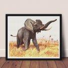 African Elephant Cross Stitch Chart by Friedrich Wilhelm Kuhnert