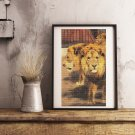 Three Circus Lions Cross Stitch Chart by Friedrich Wilhelm Kuhnert
