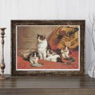 Cats and Kittens Cross Stitch Pattern PDF by Daniel Merlin