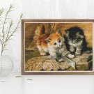 Kittens and Bows Cross Stitch Kit by Henriette Ronner Knip