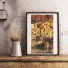 Three Circus Lions Cross Stitch Kit by Friedrich Wilhelm Kuhnert
