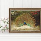 Peacock and Peacock Butterfly Cross Stitch Chart by Archibald Thorburn