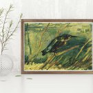 The Kingfisher Cross Stitch Chart by Vincent Van Gogh