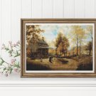 An October Day Cross Stitch Chart by Edward Lamson Henry