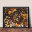 Crescent of Houses Cross Stitch Chart by Egon Schiele