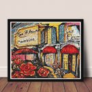 Paris Flower Market Cross Stitch Chart
