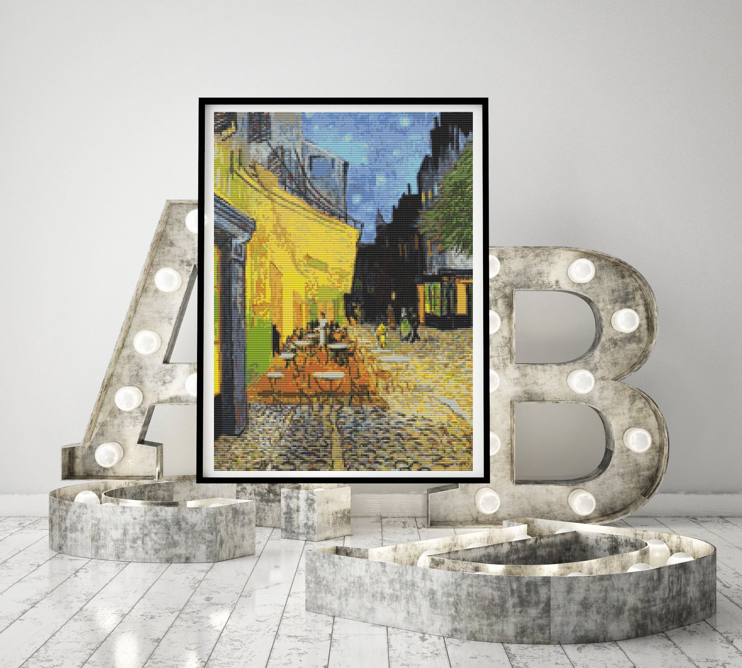 Cafe Terrace at Night Cross Stitch Kit by Vincent Van Gogh