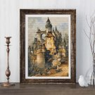 Romantic Castle Cross Stitch Chart by Hanns Bolz