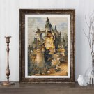 Romantic Castle Cross Stitch Kit by Hanns Bolz
