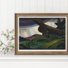 Big Raven Cross Stitch Chart by Emily Carr