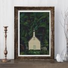 Indian Church Cross Stitch Chart by Emily Carr
