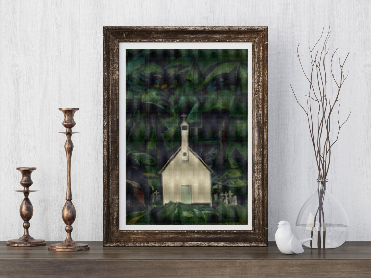 Indian Church Cross Stitch Kit by Emily Carr