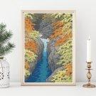 Autumn Cross Stitch Chart by Kawase Hasui