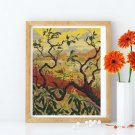 Japanese Style Landscape Cross Stitch Chart by Paul Ranson